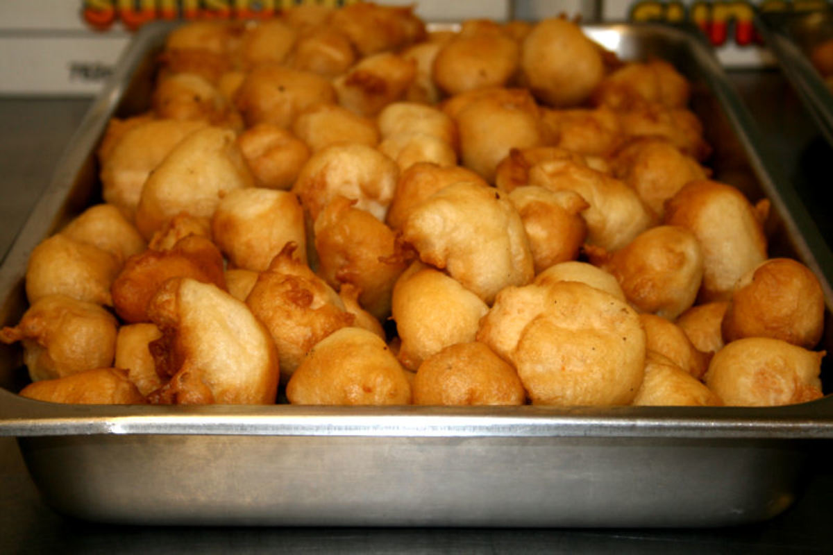 Chinese Puffed Crisp Chicken Balls