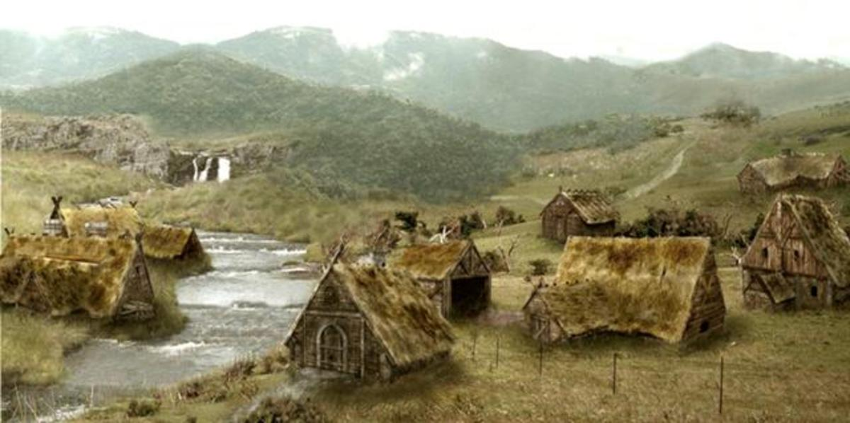 Shetland Viking settlement - they were exposed to the elements, blasted by winds off the Atlantic, although close to the Gulf Stream Drift