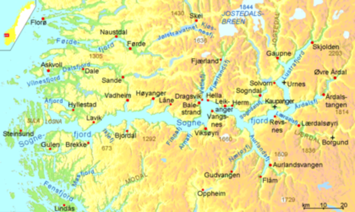 The Sognefjord area and the coast to the north is riven with inlets large and wide, long and narrow