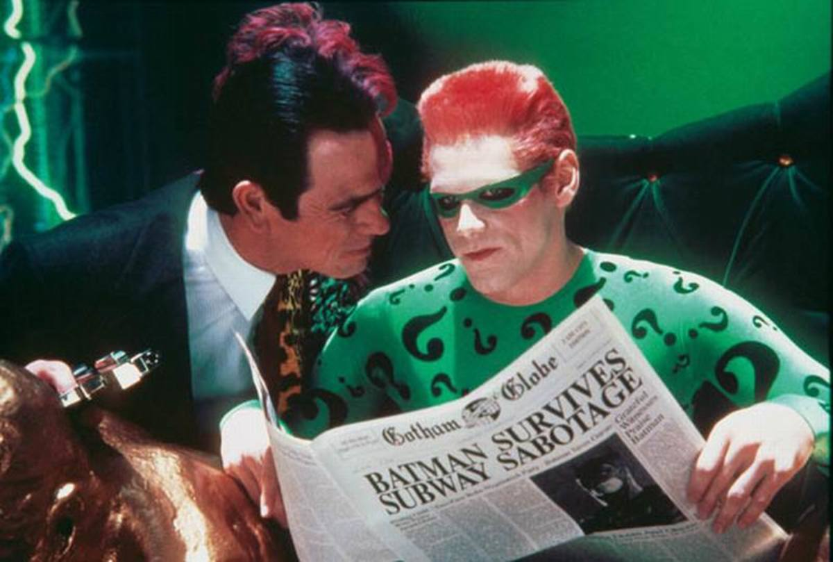 Tommy Lee Jones and Jim Carrey in Batman Forever (1995)