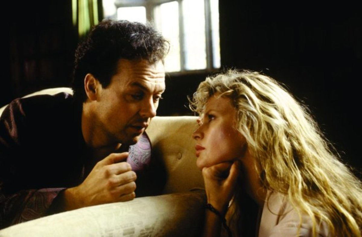 Michael Keaton and Kim Basinger in Batman (1989)