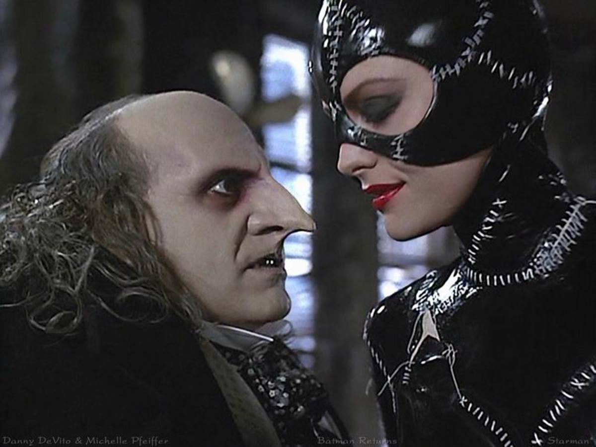 Danny DeVito and Michelle Pfeiffer in Batman Returns (1992)