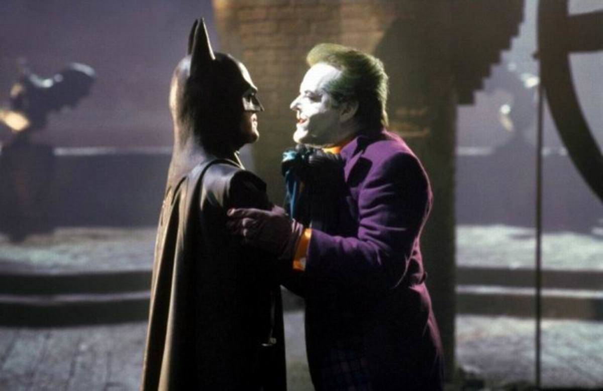 Michael Keaton and Jack Nicholson in Batman (1989)