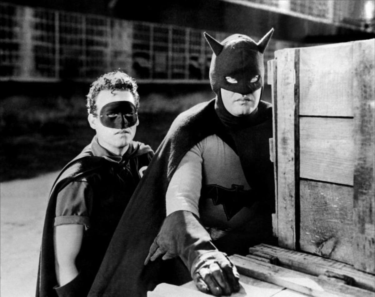 Johnny Duncan and Robert Lowery in Batman and Robin (1949)