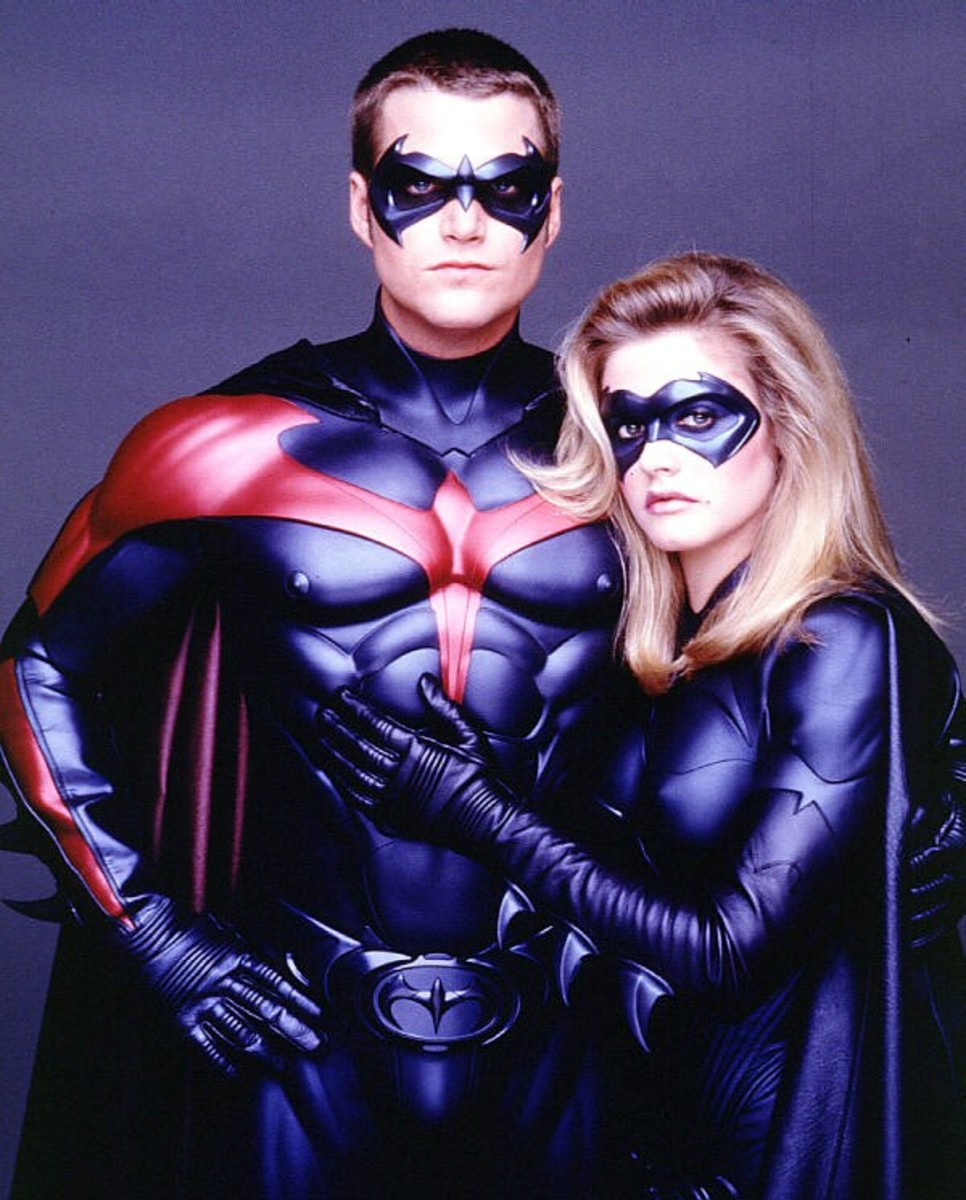 Chris O'Donnell and Alicia Silverstone in Batman & Robin (1997)