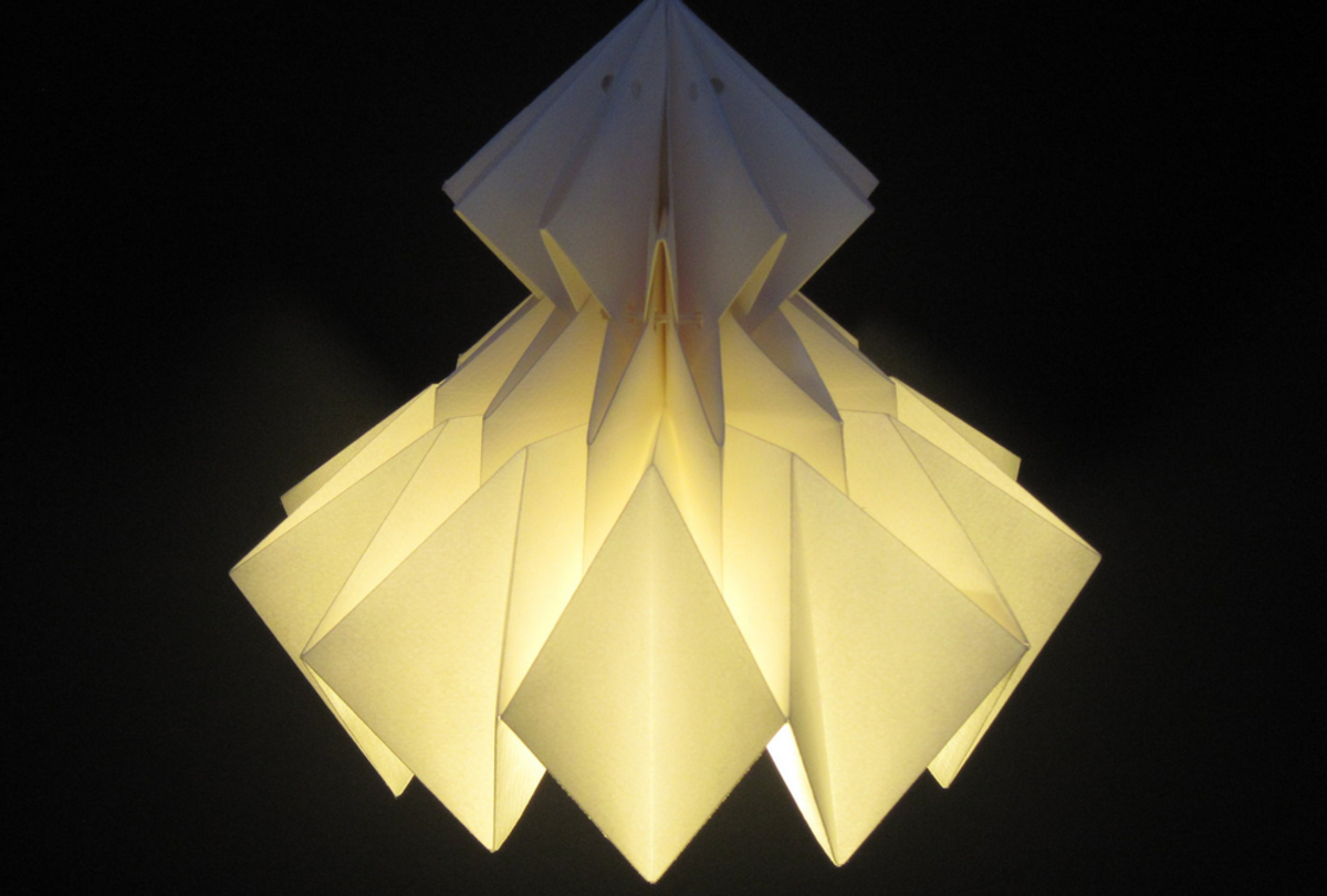 Origami lamp by Jaycie Y on Etsy