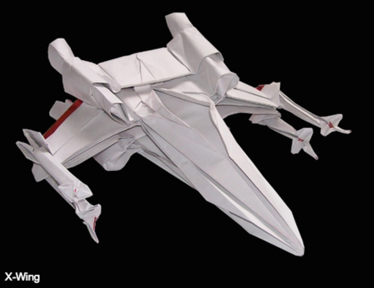 """Starwarigami."" An X-Wing by Martin Hunt (starwarigami.co.uk)"
