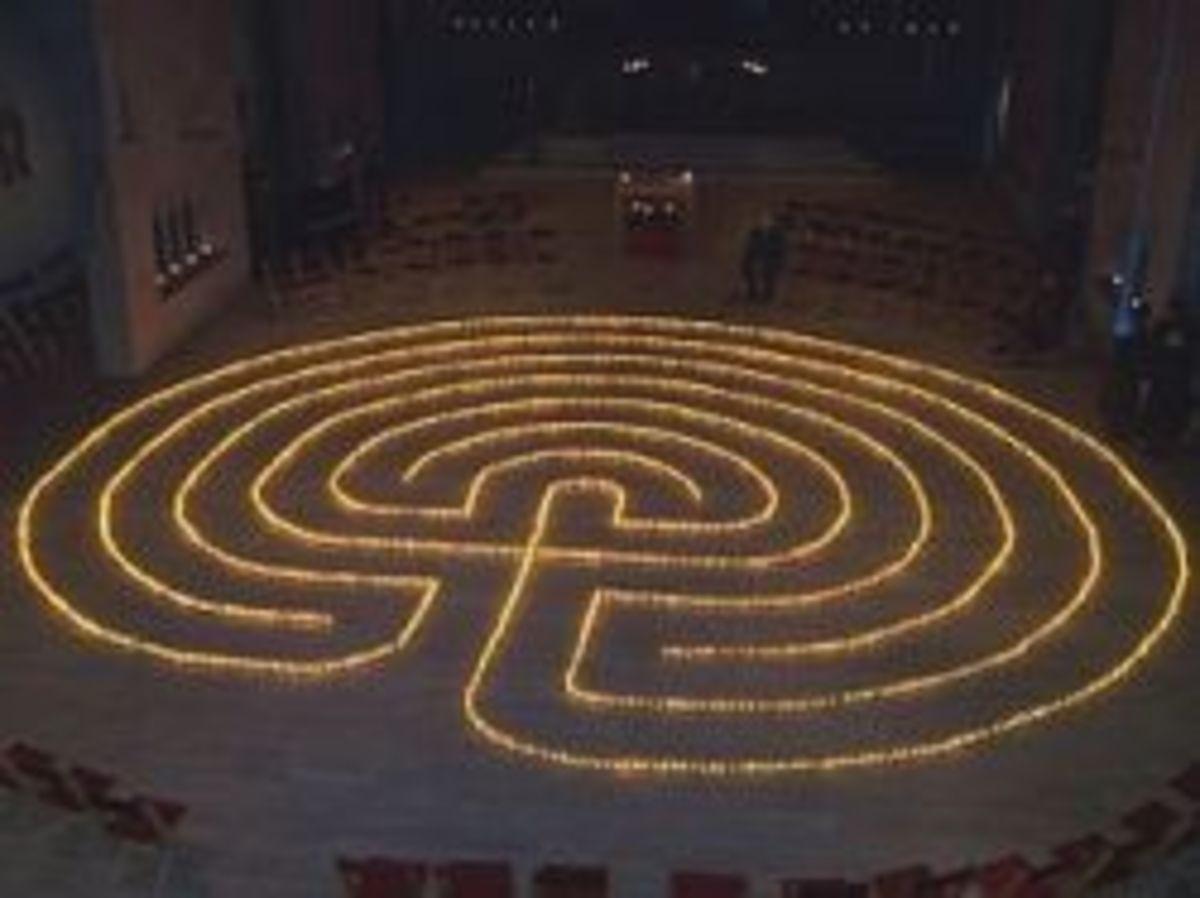 Tealight labyrinth walk