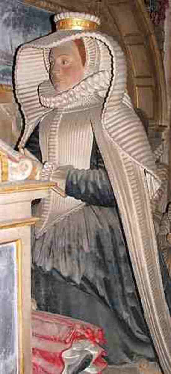 The Effigy of Lady Hoby in Bisham Parish church. berkshirehistory.com