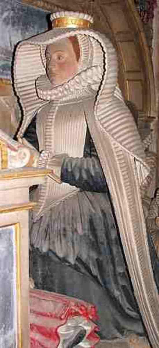 The Effigy of Lady Hoby in Bisham Parish church. berkshirehistory.com