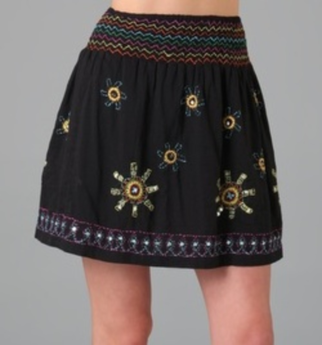 If you aren't ready to go full-on traditional this Cinco de Mayo, this more subdued skirt by Antik Batik is a nice twist on the original.