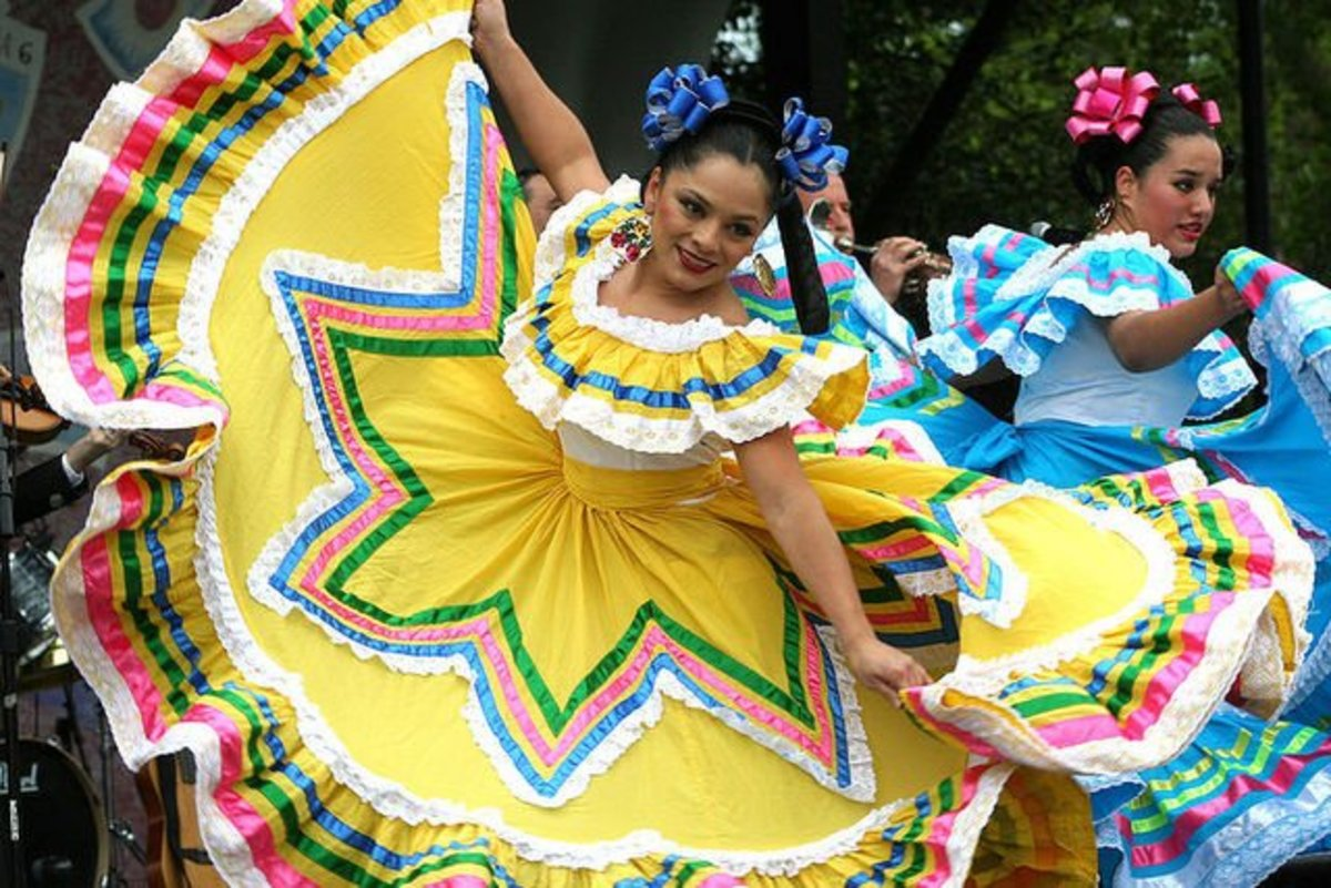 You can take traditional-style Mexican fashion as far as you want on Cinco de Mayo, as this lovely senorita demonstrates.