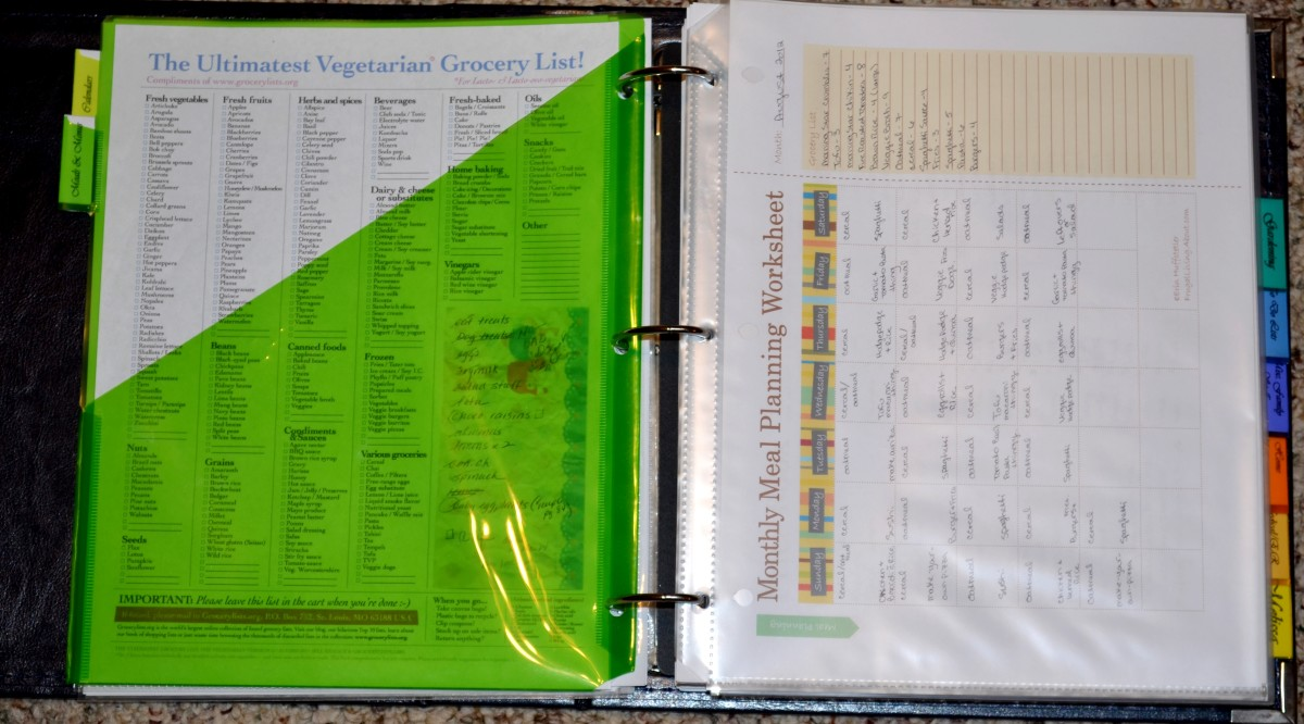 The meals and menus tab has my price log,  grocery lists and weekly and monthly menu planners.