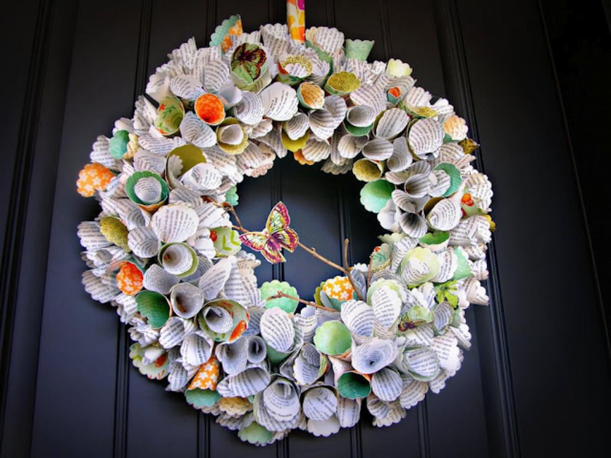 Paper Cone Wreath Tutorial 520 x 390