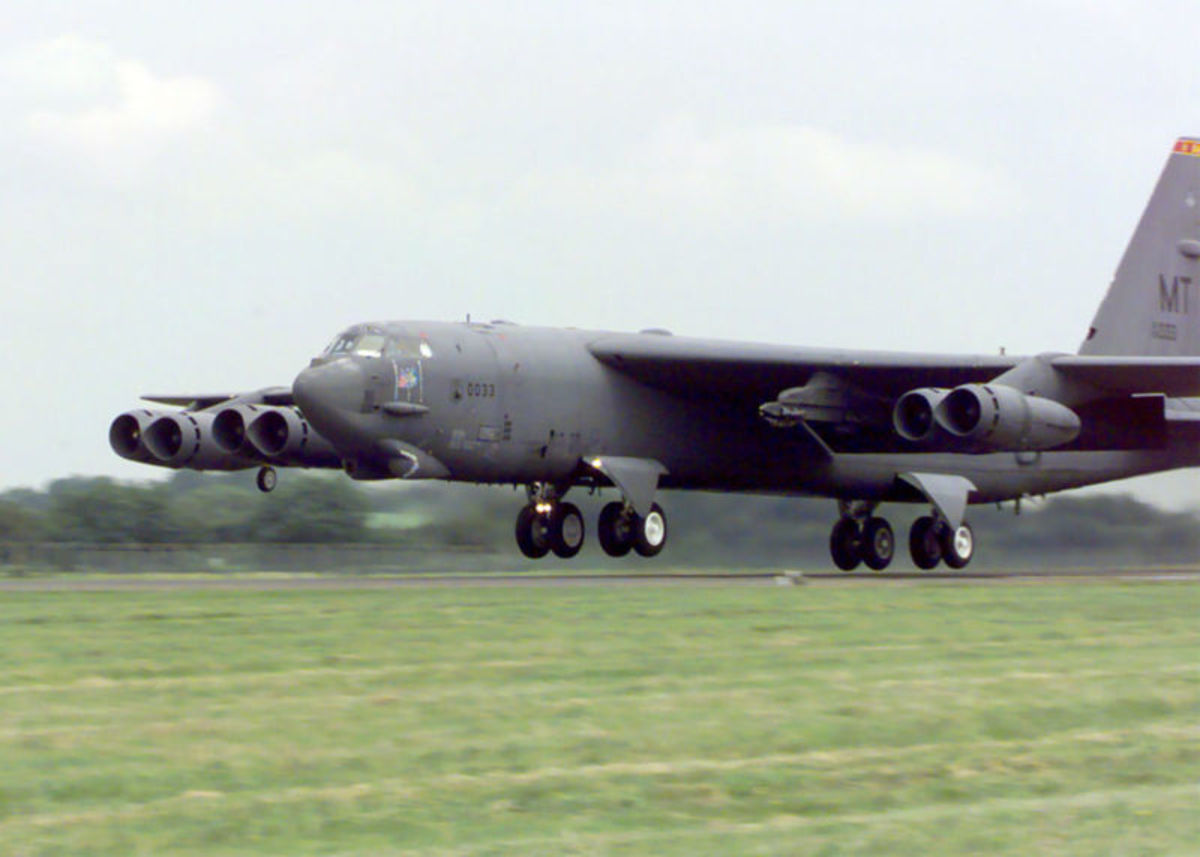 A B-52 Stratofortress from the 5th Bomb Wing, Minot Air Force Base in North Dakota