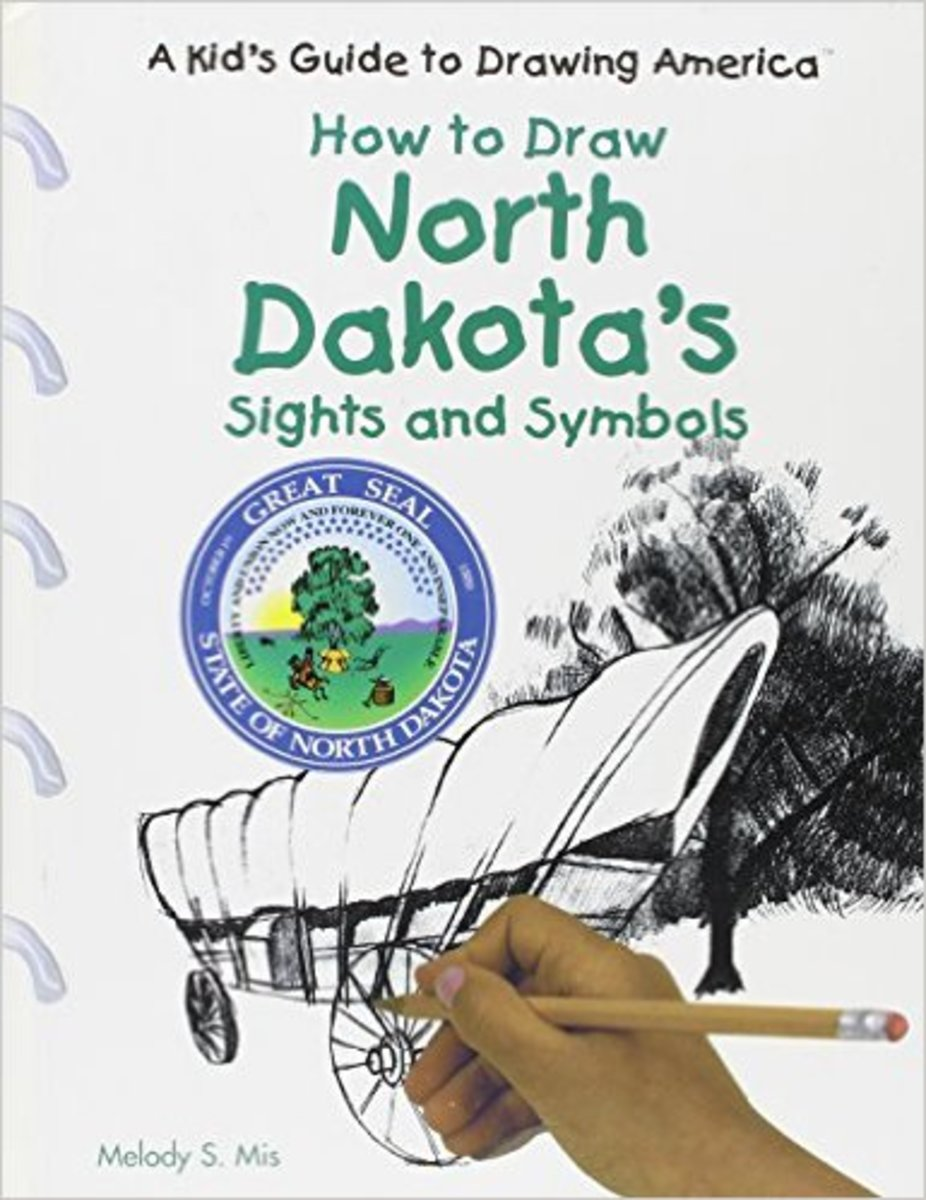 North Dakota's Sights and Symbols (Kid's Guide to Drawing America) by Melody S. Mis