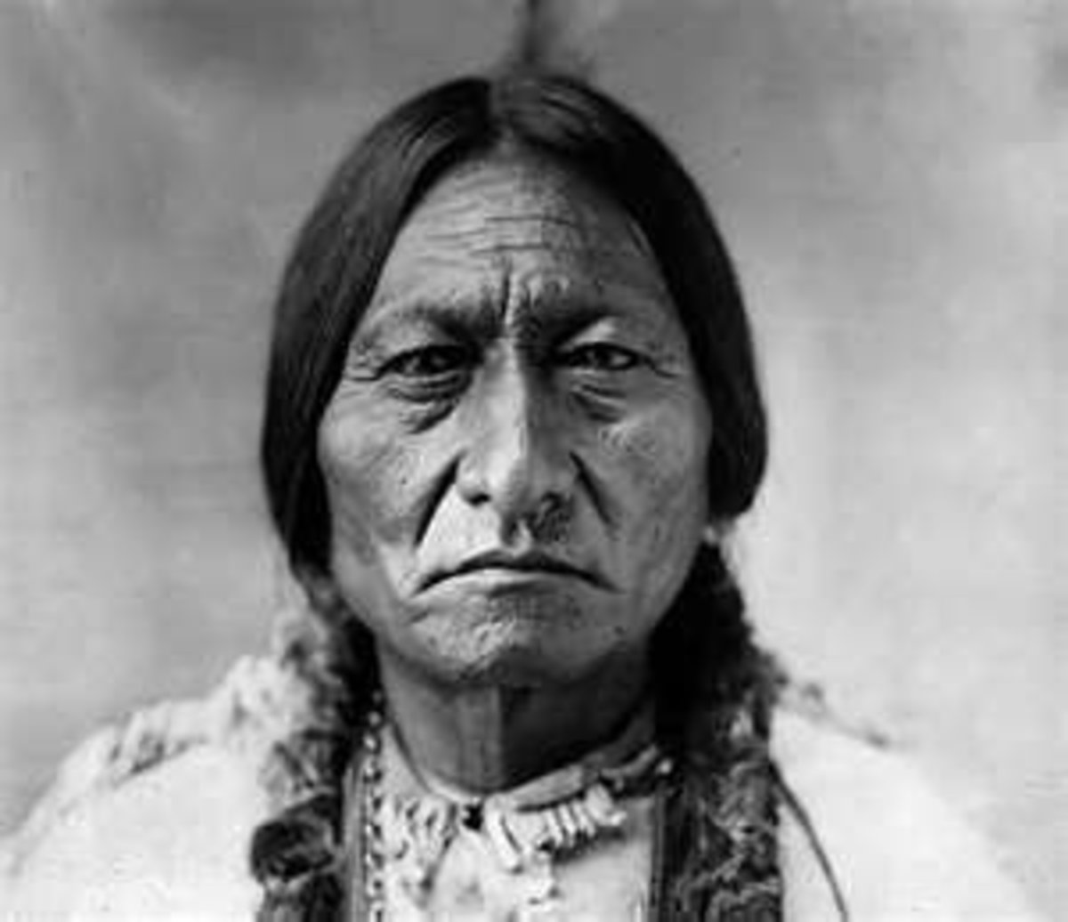 Portrait of indian chief Sitting Bull (1831-1890) by David Francis Barry