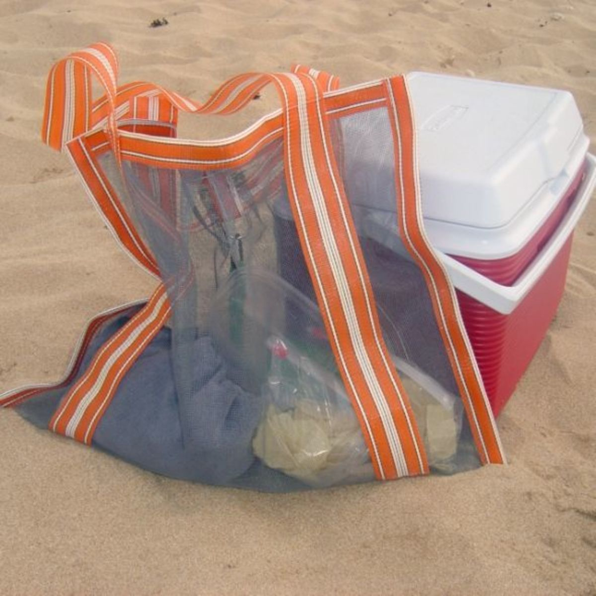 Sew Window Screen to Make Beach Bag