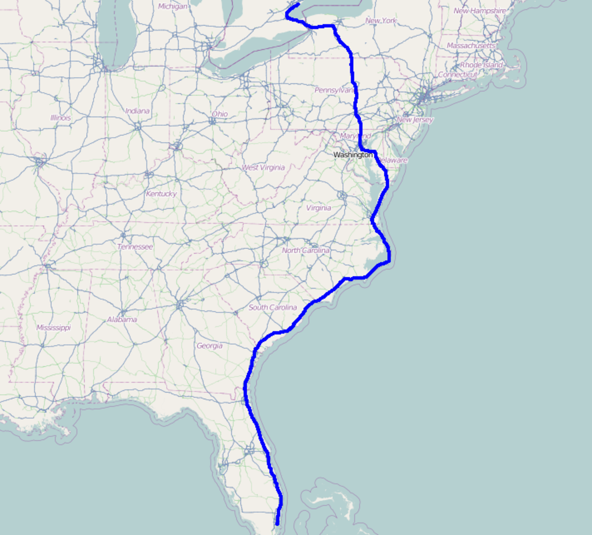 Toronto to Miami Beach on Bicycle