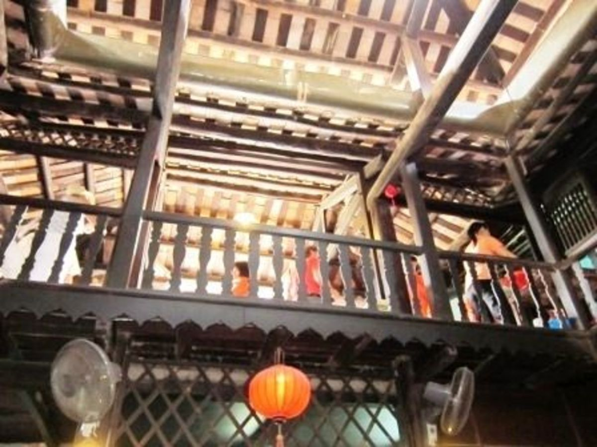 Hard Wood Beams of Old Houses in Hoi An