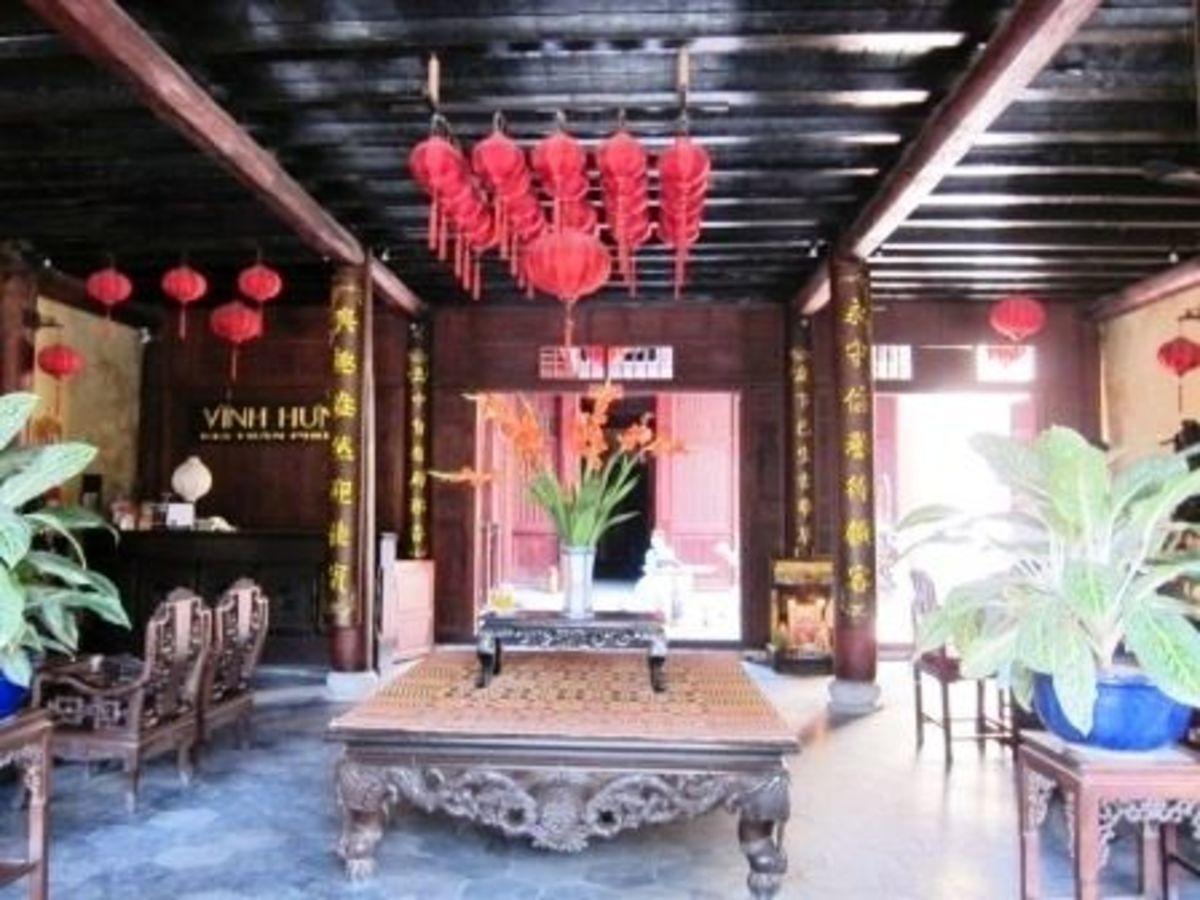 Hard wood furniture in Hoi An