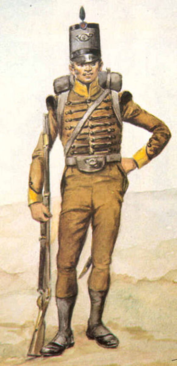 Portuguese Infantryman from the Napoleonic era. Unfortunately none were present to stem the French Invasion of Portugal.