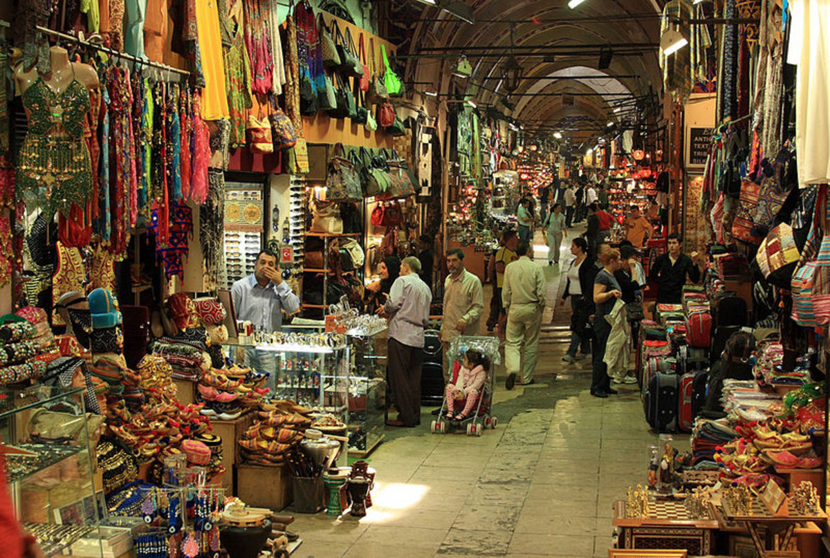 The Grand Bazaar built in 1461 in Istanbul.