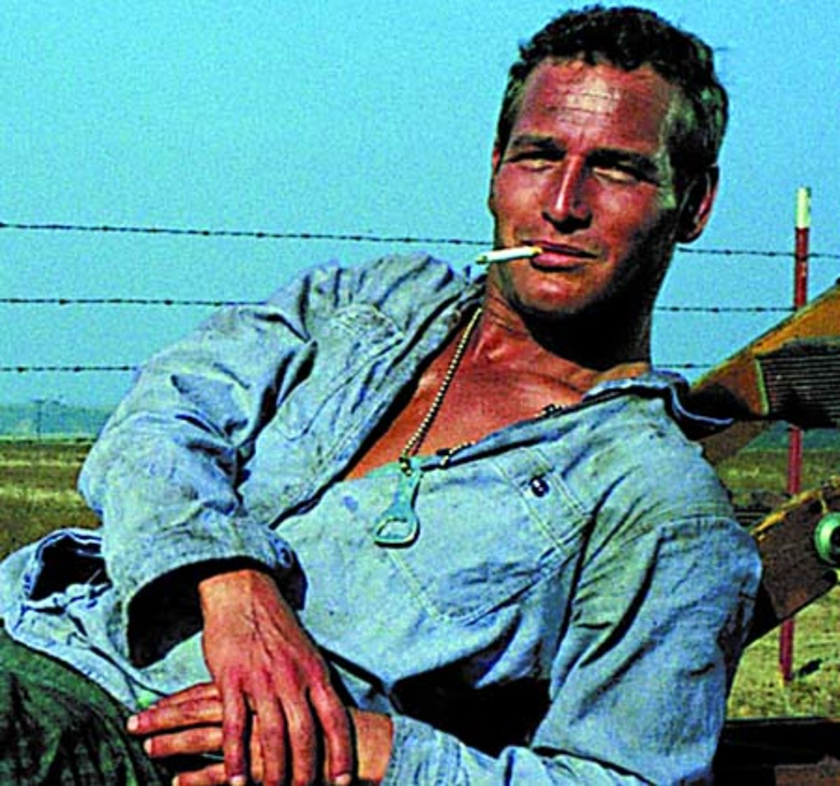 Paul Newman as the ever-smiling Luke