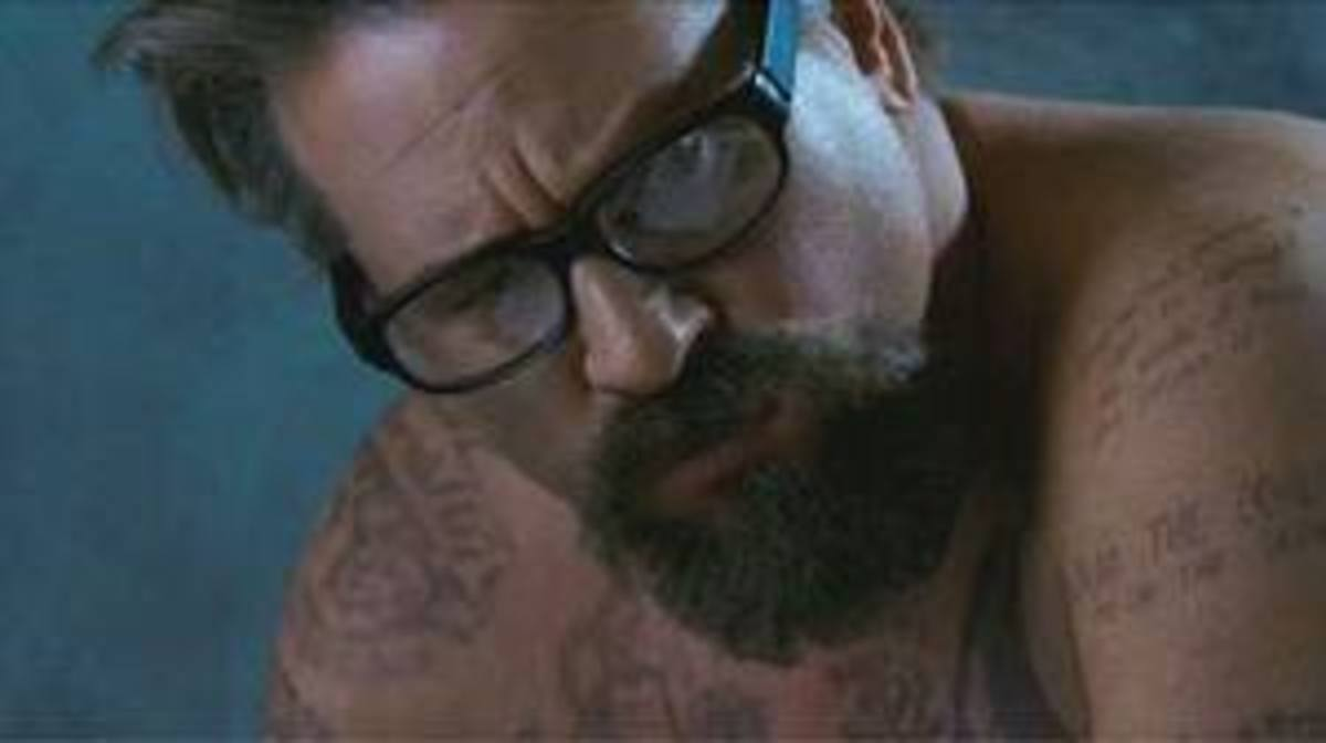 Val Kilmer - tattooed prison 'philosopher'