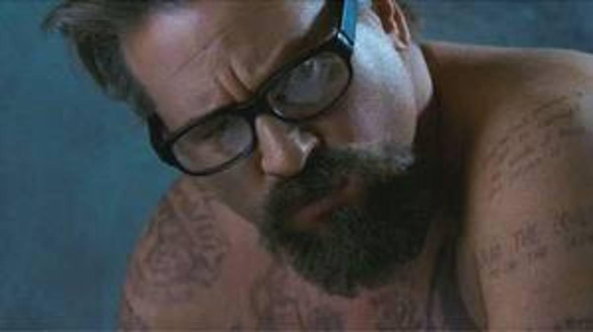 Val Kilmer - tattooed prison 'philosopher'