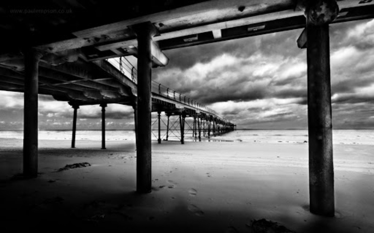'Under the boardwalk, down by the sea...'  When the tide's out naturally - shiver me timbers!.