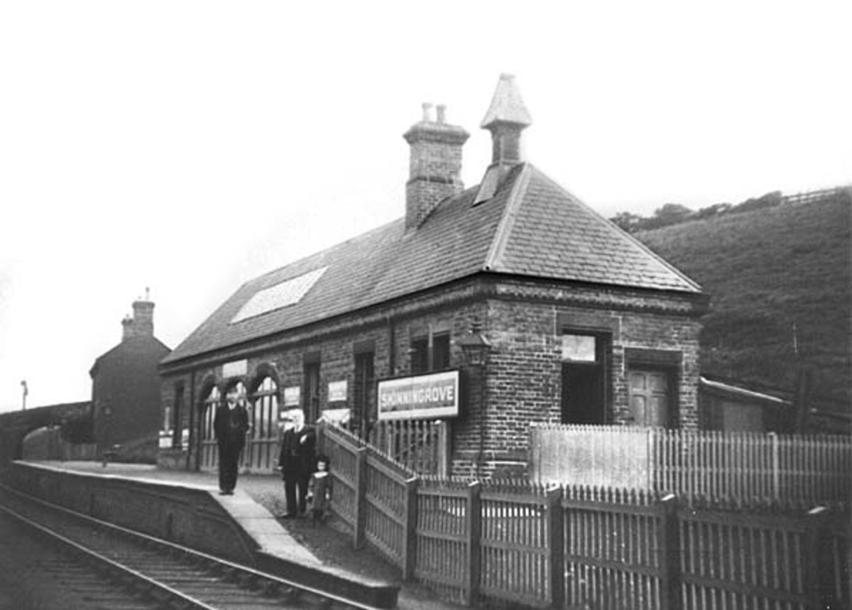 Skinningrove Station was on a spur off the Saltburn-Whitby line - an early casualty of pre-Beeching rationalisation