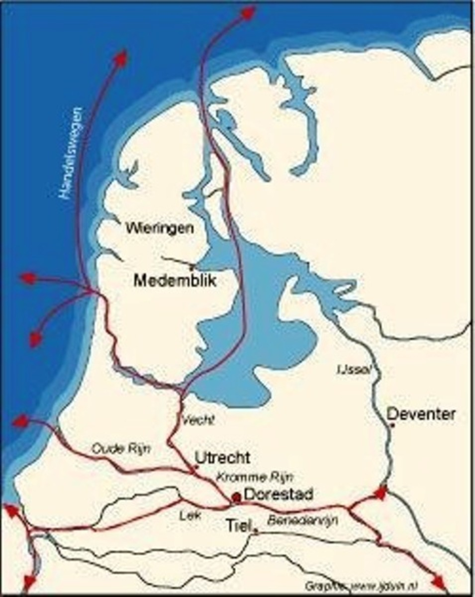 Dorestad in the Netherlands was raided and destroyed by the Danes more than once. The town was the beating heart of Frankish trade in the north of the empire
