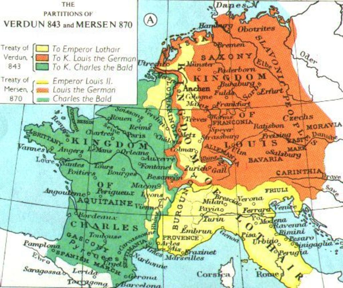 Frankia and her dependencies were  unguarded after the death of Charles 'the Great' (Charlemagne) when the empire was divided between his feuding sons. All points west were potential targets between the Channel and the heart of the kingdom - Paris