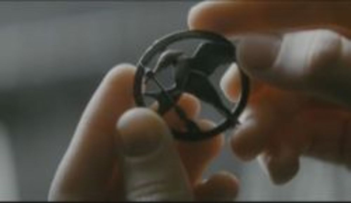 The Mockingjay Pin from The Hunger Games