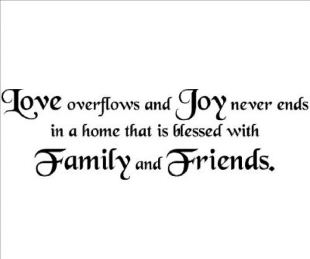 ~ Family And Friends Quote Wall Decal ~