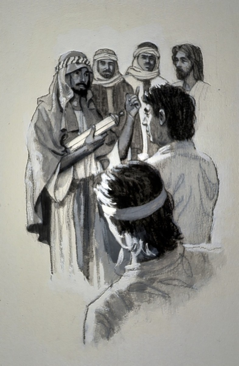 Barnabas takes new convert Paul before the Jerusalem council to convince them that Paul is truly converted.