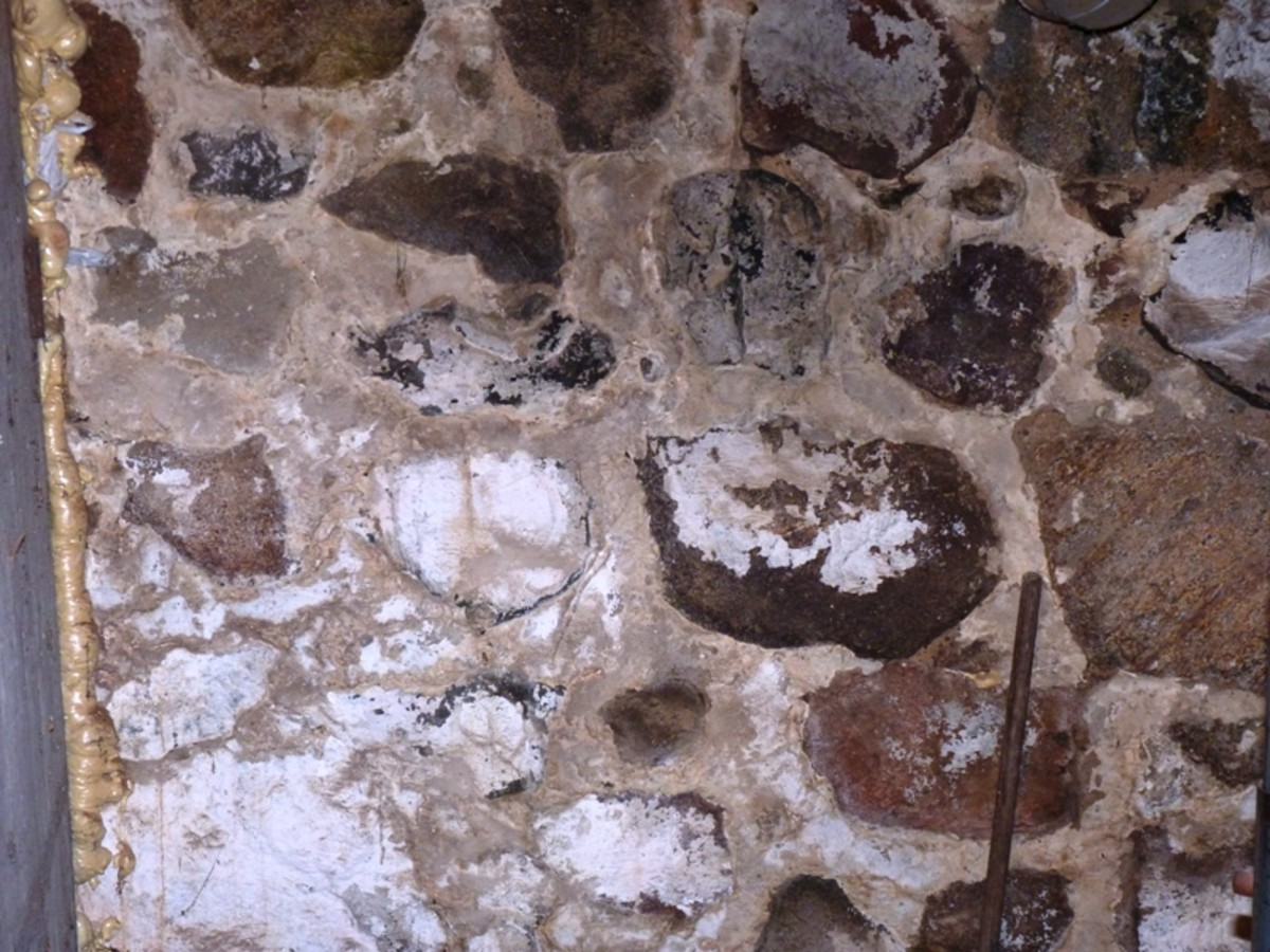 basement wall - stone construction