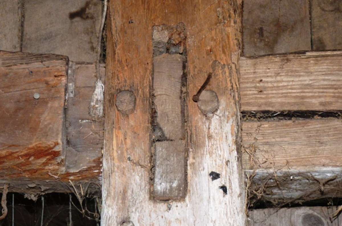 mortise and tenon joint in the barn