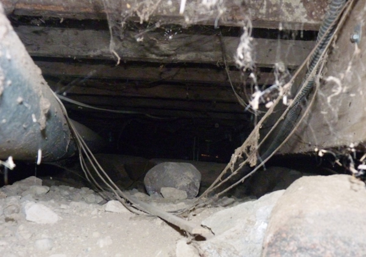 looking into the crawl space