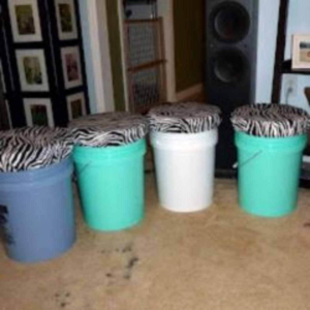Bucket Stools DIY Dorm Decor