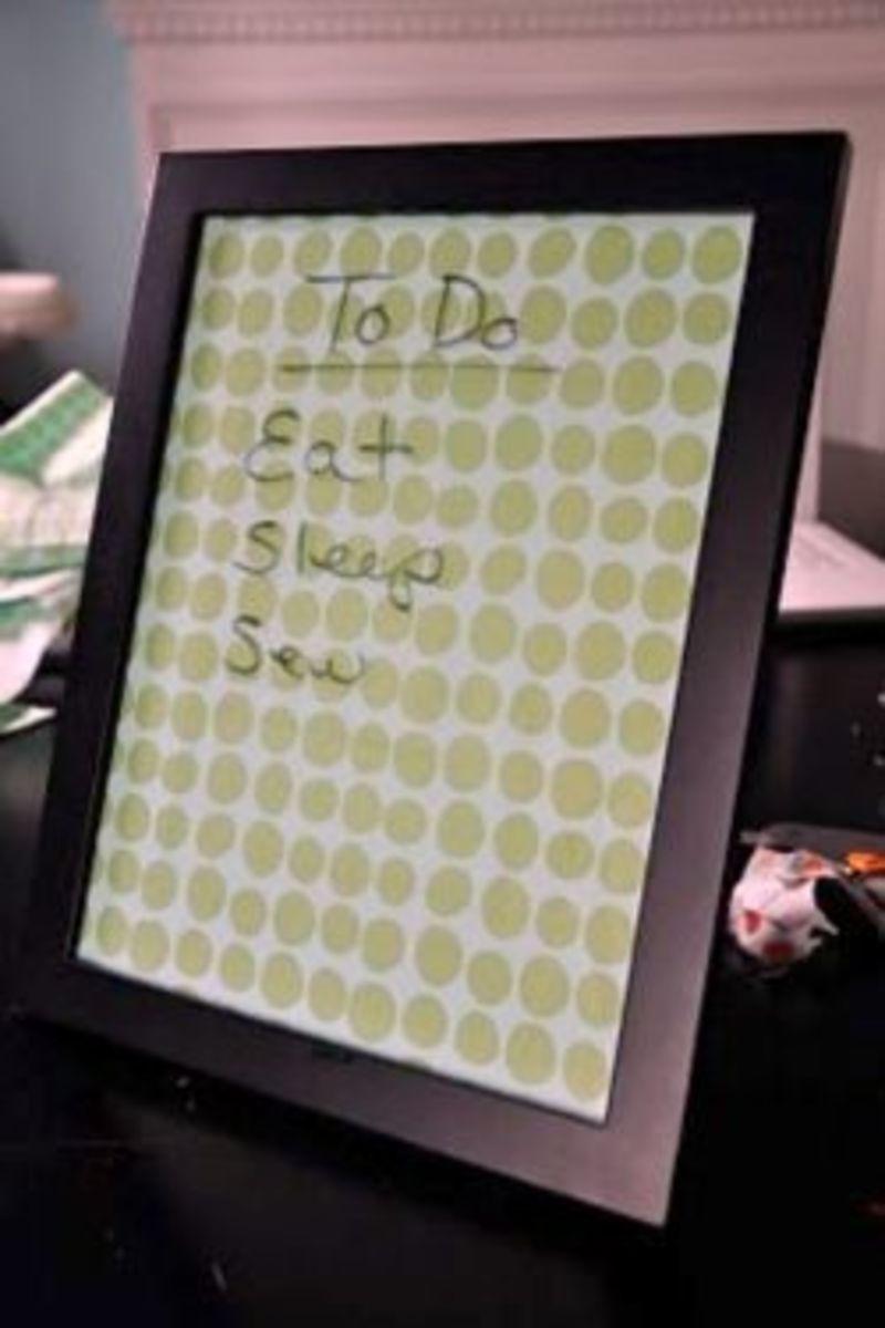 DIY Dorm Decor Dry Erase Board