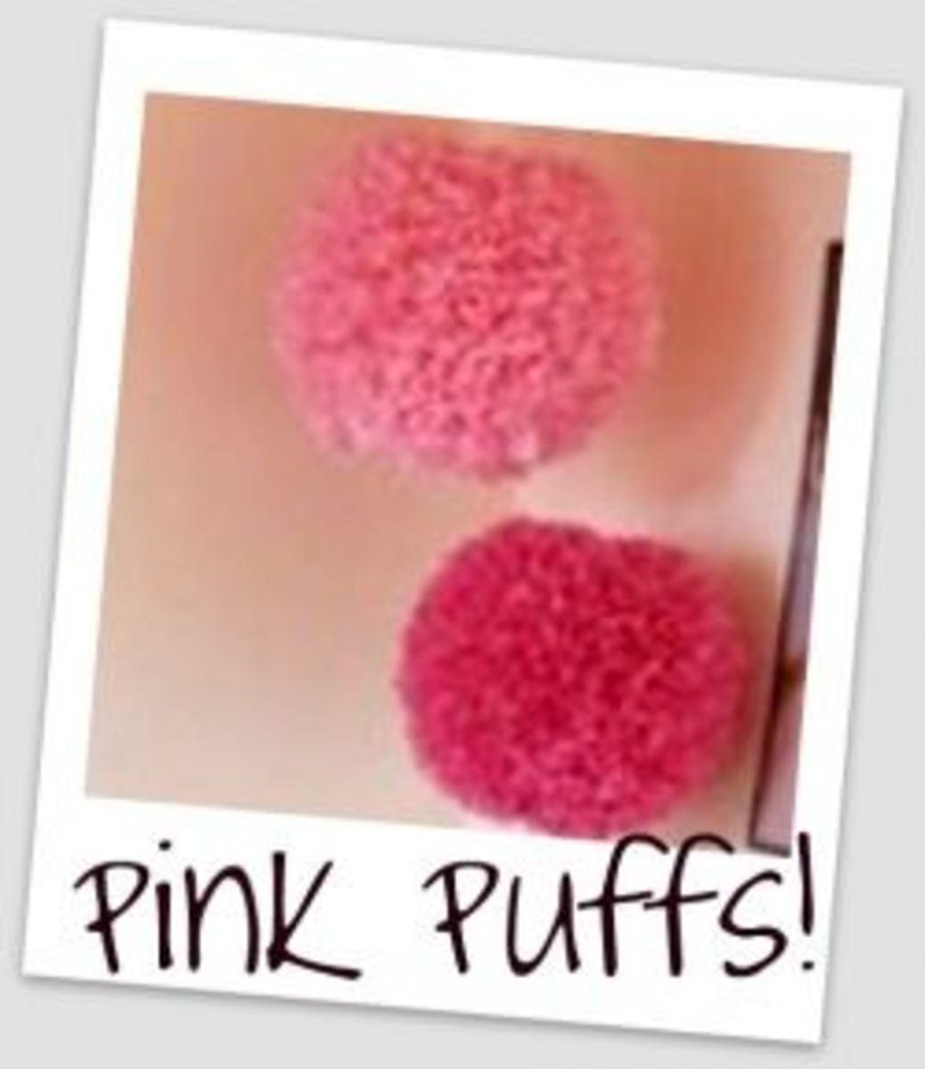 DIY Dorm Decor - Pink Tissue Puffs