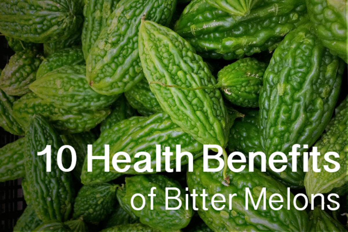 The 10 health benefits of bitter melons, also known as karela. There are other types of bitter melons than the ones pictured here, but they all share the same types of proteins.