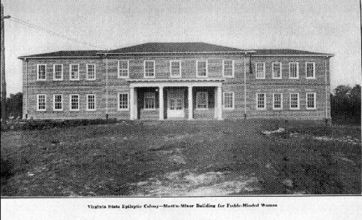 """The Mastin-Minor building at the Colony was built in 1913 to house men and women who were """"feeble-minded""""."""