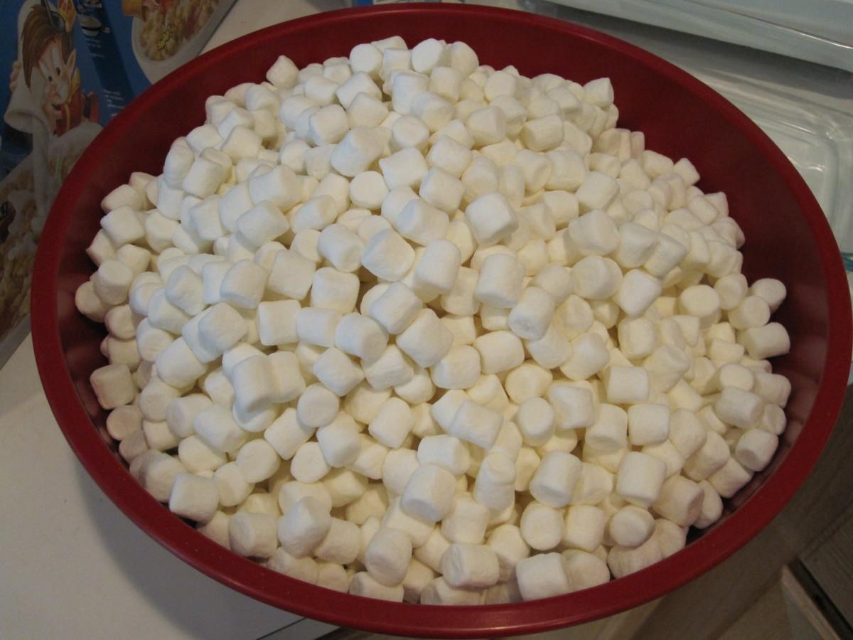 4 1/2 batches worth of marshmallows!