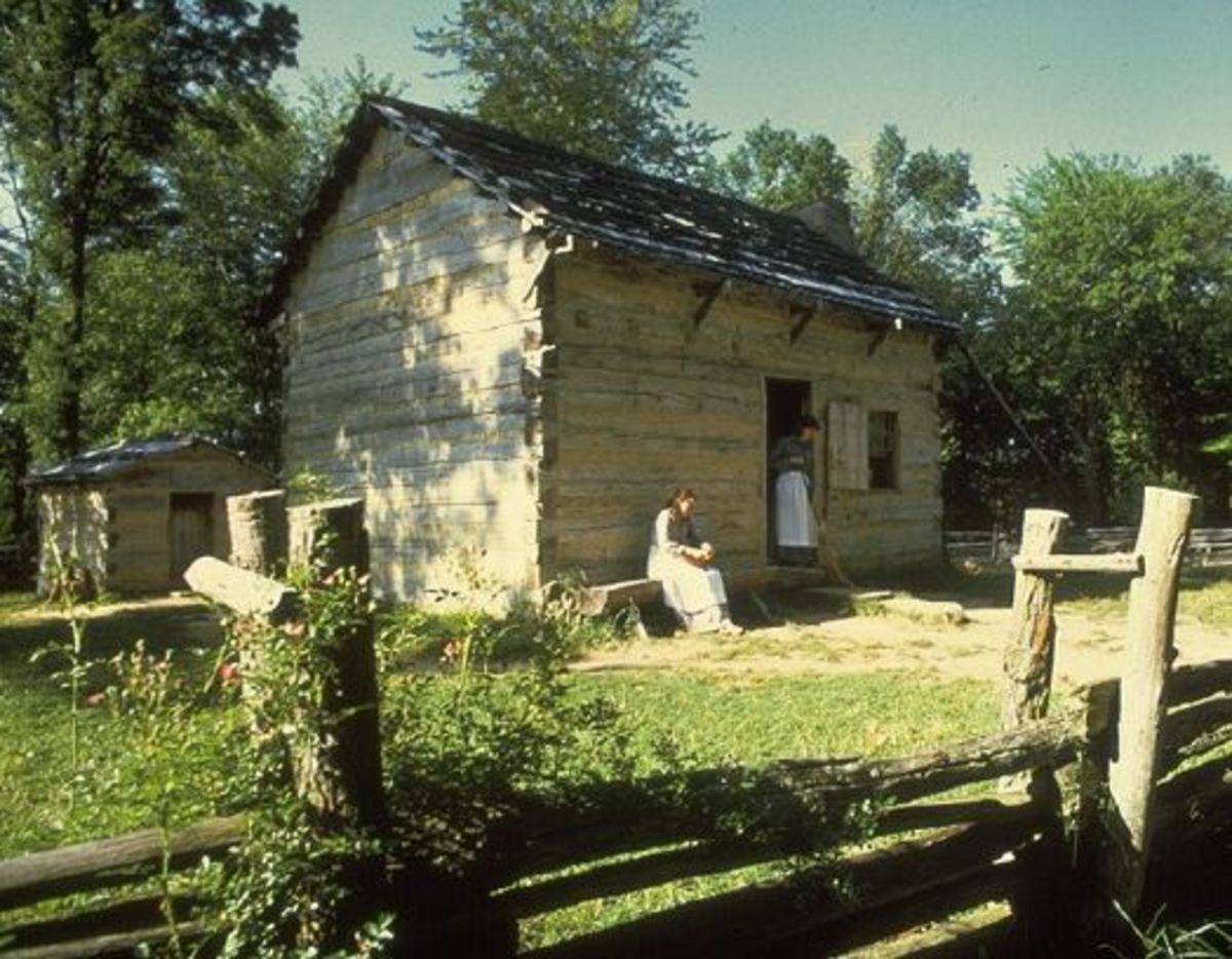 Replica of Lincoln's boyhood home and farm