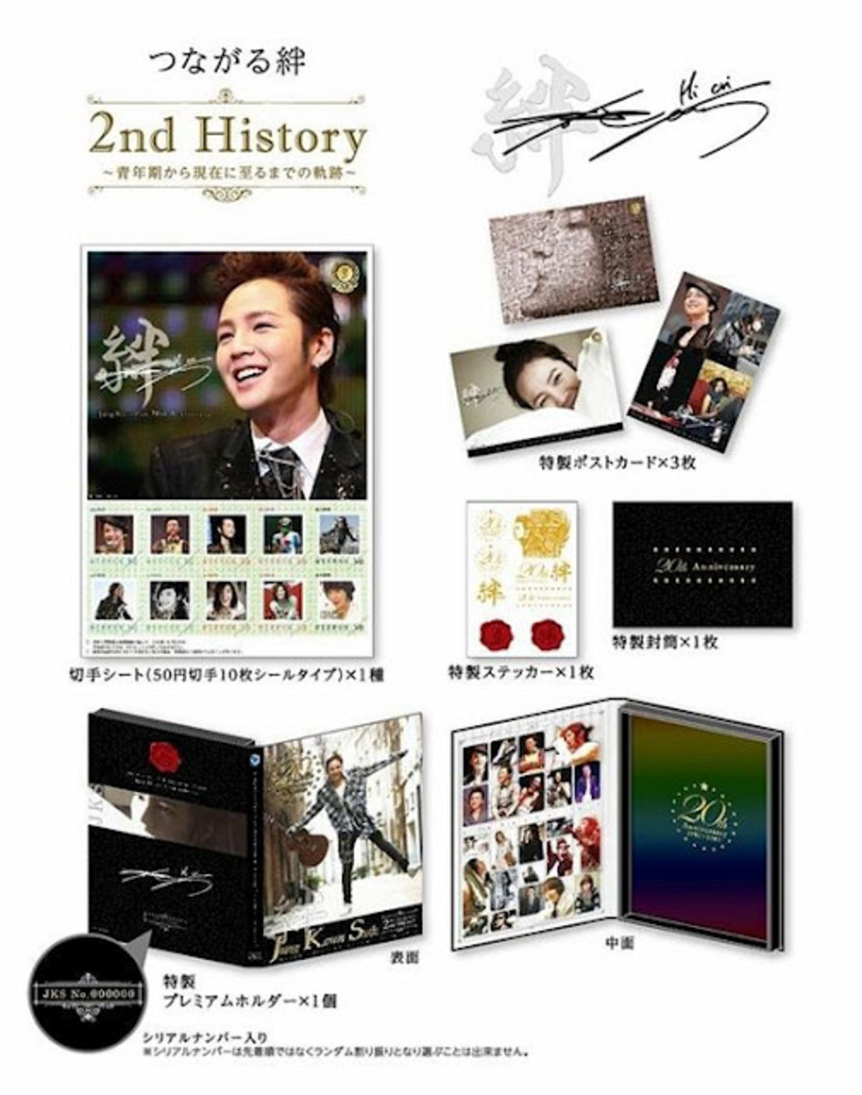 Stamps of Jang Geun Suk, produced in Japan, portraying his life from childhood to adult