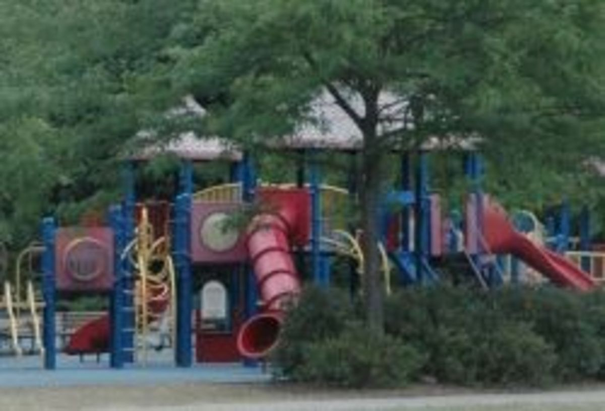 Take the kids to the park and play on the durable equipment.