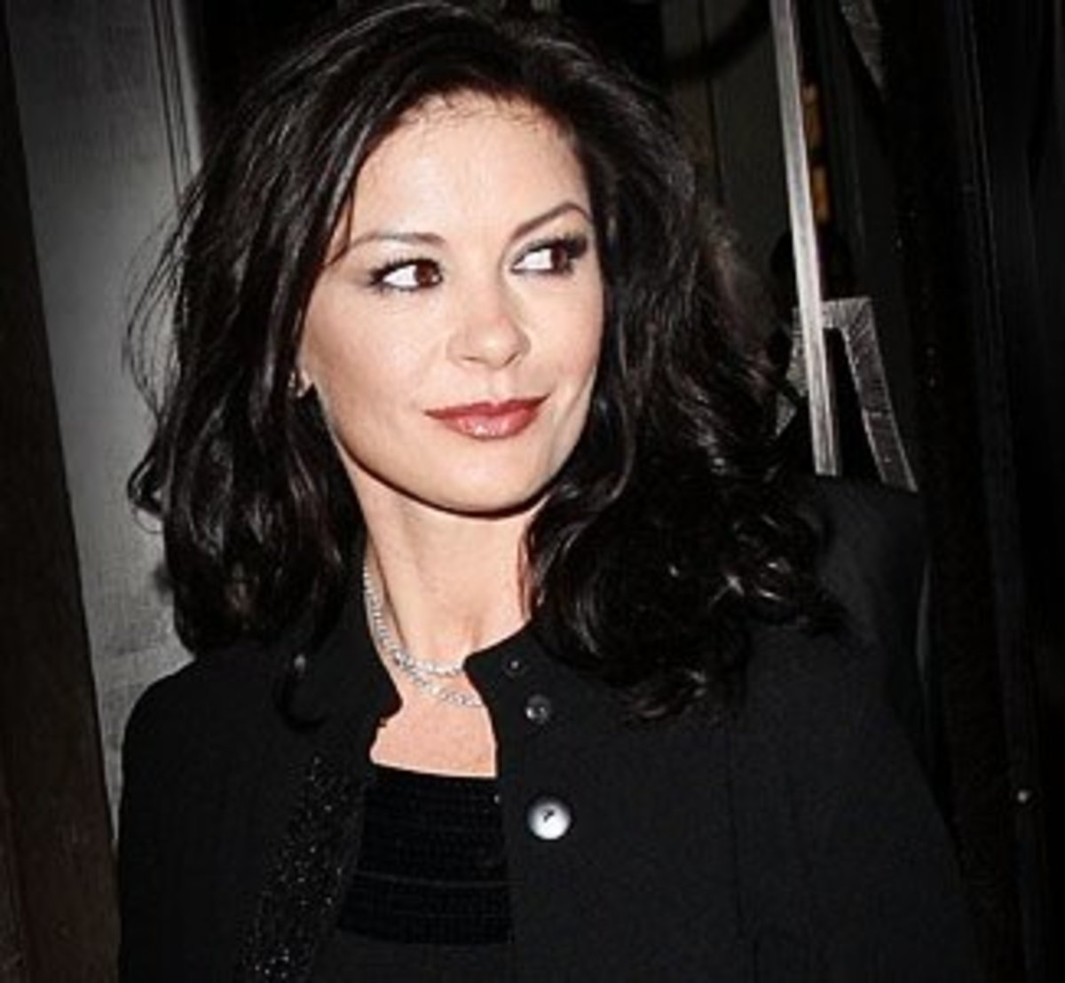 Welsh actress Catherine Zeta-Jones with jet black hair color